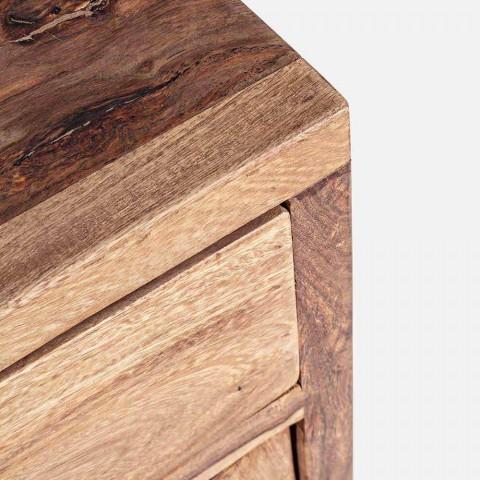 Aparador em Acabamento Natural Madeira com Portas e Gavetas Homemotion - Ventador