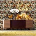 Armário de folheado de madeira Grilli York com 4 portas 100% made in Italy