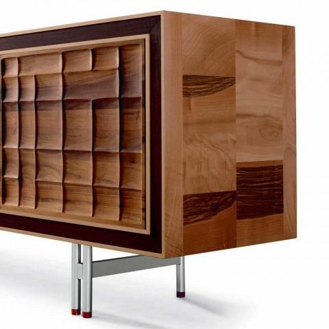 Aparador de design moderno com 3 portas Anna de madeira maciça