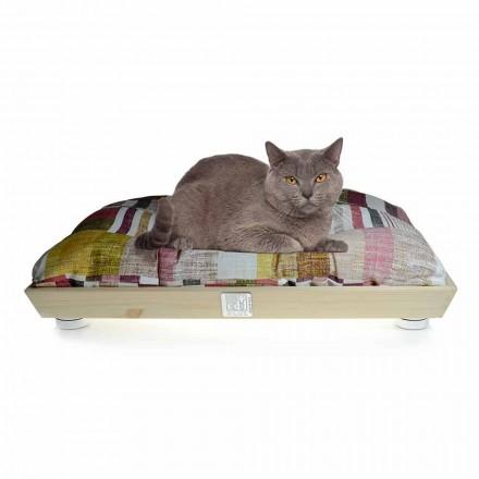 Canil Cães e Gatos em Madeira Maciça com Almofada Lavável Fabricado na Itália - Juma