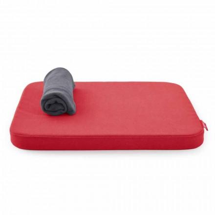 Cama macia para cães com almofada e manta de lã fabricada na Itália - Calduccio