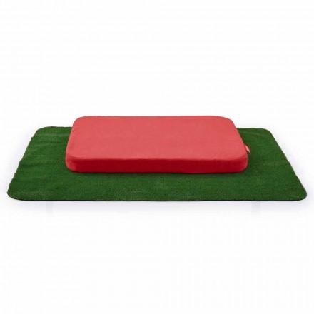 Canil para cães com almofada e carpete em grama sintética fabricada na Itália - jogo