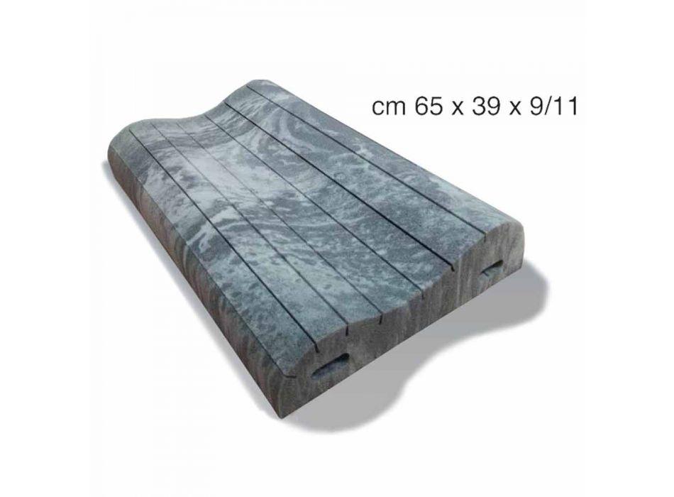 Almofada Double Wave em Memory Xform 11 cm de altura Made in Italy - Curly