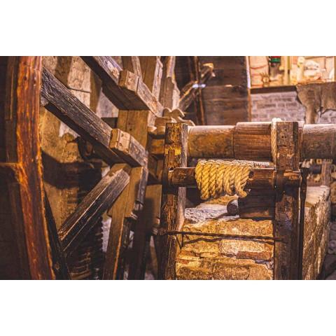 Almofada de arte italiana em peça única de cânhamo pintada e costurada à mão - Marcas