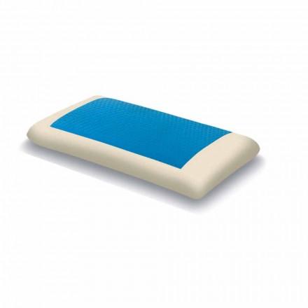 Almofada de hidrogel de memória ergonômica Fabricado na Itália, 2 pedaços - Bonita