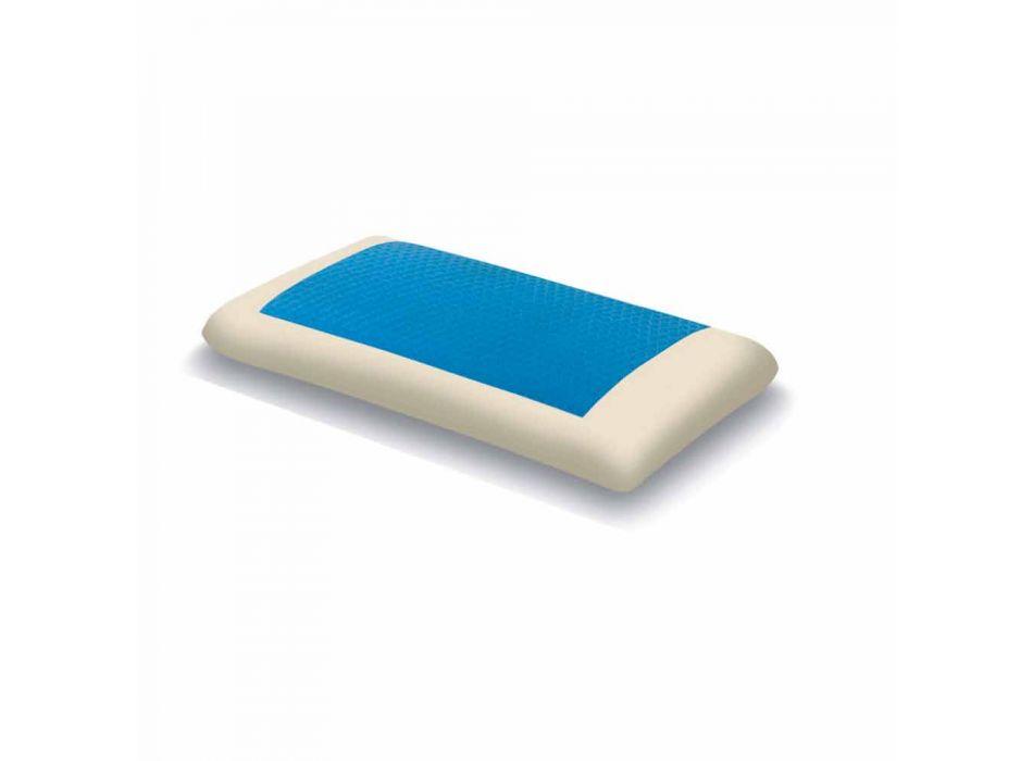 Almofada de hidrogel de memória ergonômica com 13 cm de altura Fabricado na Itália - Bonita