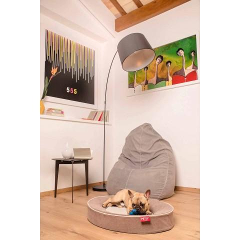 Almofada para cães internos com capa removível em microfibra resistente a manchas - Coliseu