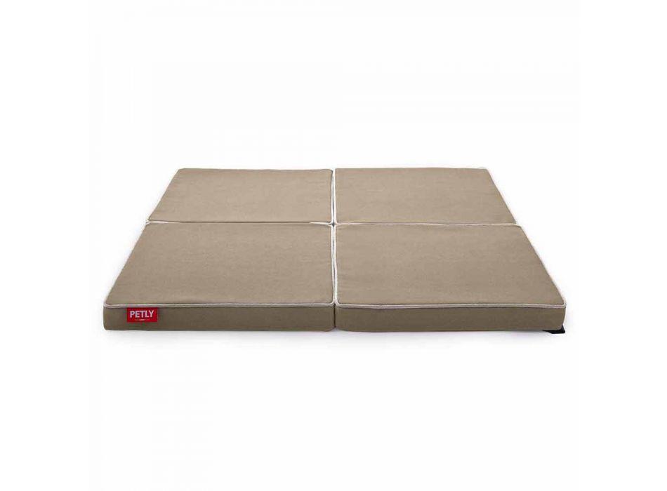 Almofada quadrada modular e antiderrapante para cães, fabricada na Itália - eu componho
