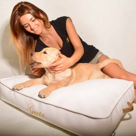 Cama de cachorro de couro falso Doggy Cloud, design moderno, feito na Itália por Trona