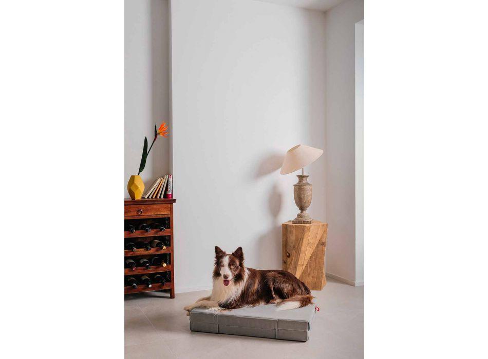 Travesseiro articulado para cachorro com dois tecidos verão inverno feito na Itália - virar