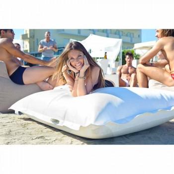 Nuvem Travesseiro relaxante Trona náutico branco de couro falso ao ar livre