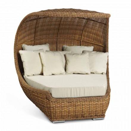Design de sofá-cama em vime sintético tecido luxuoso - Yves