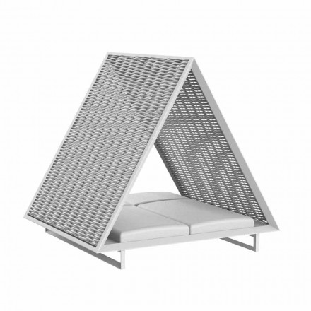 Sofá de jardim luxuoso em alumínio e tecido - Frame Vineyard by Vondom