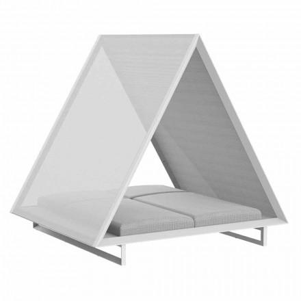 Sofá-cama externo em alumínio e tecido de design luxuoso - Frame Vineyard by Vondom