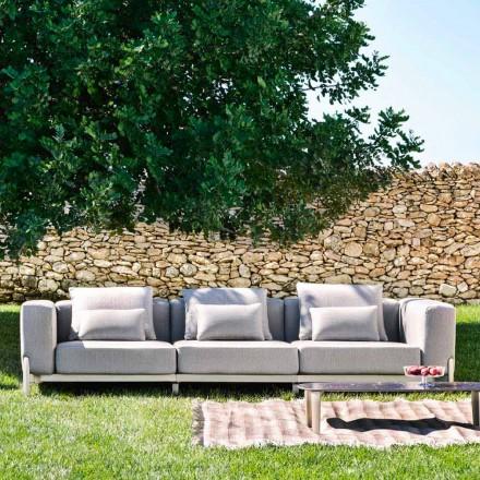 Sofá Outdoor 3 Lugares em Alumínio e Tecido de Alta Qualidade - Filomena