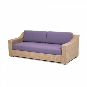 Sofá de 3 lugares polietileno ao ar livre e Joe Tempotest