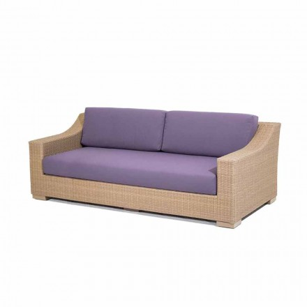 3 lugares sofá jardim Joe, polietileno e tecido Tempotest