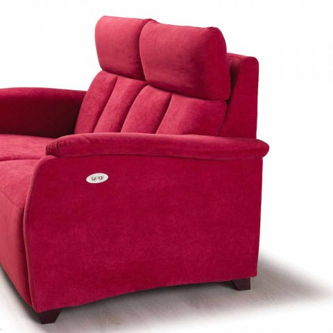 Sofá de 2 lugares de design moderno em couro, couro ecológico ou tecido Gelso