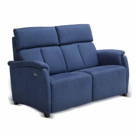 Sofá 2 lugares Gelso, com estofos em tecido / couro / faux leather