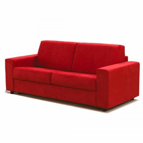 Moderno sofá de 2 lugares maxi em couro ecológico / tecido fabricado na Itália Mora