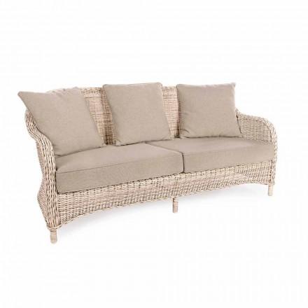 Sofá de jardim de 3 lugares em fibra tecida de Homemotion Design - Casimiro