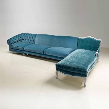 Sofá de canto de design de luxo Narciso, feito na Itália, estilo clássico