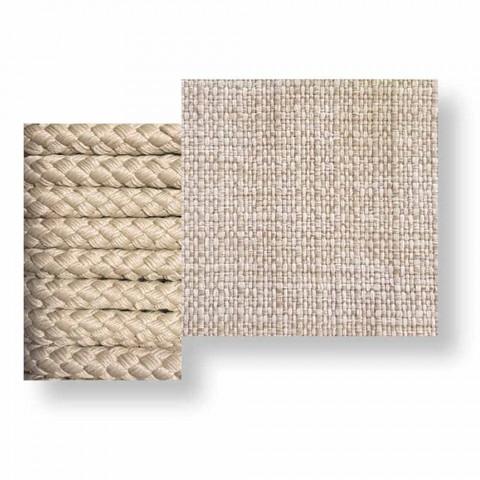 Sofá-chaise longue exterior em corda e tecido - Cliff Decò by Talenti