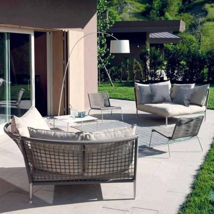 Tecido de sofá de jardim circular cinza-Dove Made in Italy Design - Ontario4