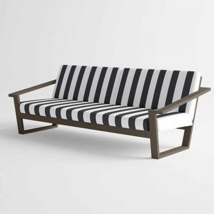 Sofá externo de 2 ou 3 lugares em alumínio e tecido Design moderno - Louisiana