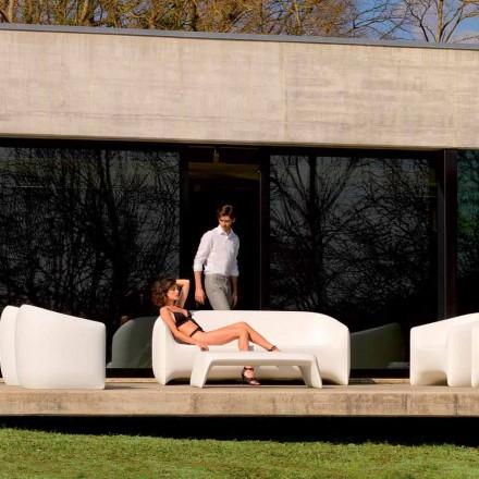 Sofá moderno ao ar livre feito com resina de polietileno, Blow by Vondom