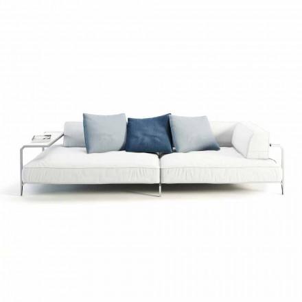 Sofá de exterior estofado em tecido de design moderno fabricado em Itália - Arkansas