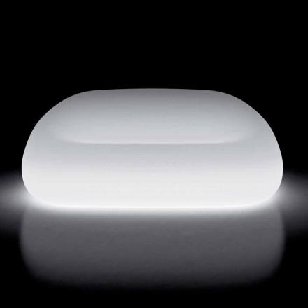 Sofá Externo Brilhante com Luz LED em Polietileno Fabricado na Itália - Ervin