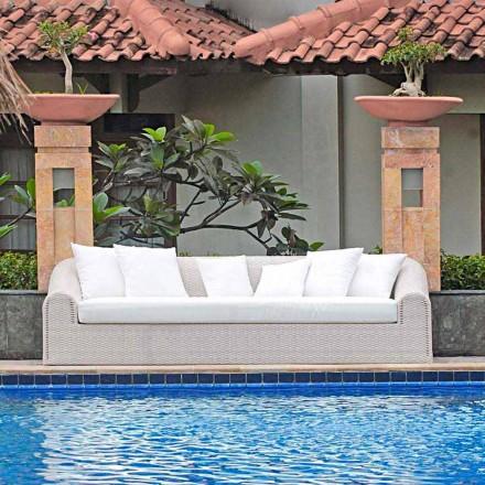 Grande sofá ao ar livre Cooper, design moderno feito à mão