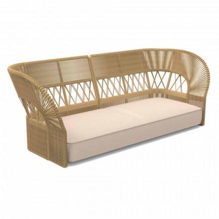 Sofá de jardim de três lugares com design moderno - Cliff Decò by Talenti