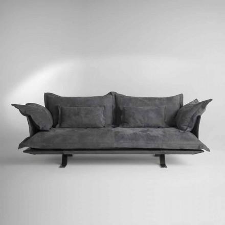 Tecido de design moderno ou sofá de couro Shita, 170,220 ou 250 cm de comprimento