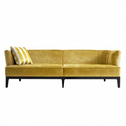 Sofá de design estofado em madeira de faia Grilli Kipling fez Itália