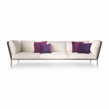 Sofá de exterior de design moderno em tecido branco fabricado na Itália - Ontario