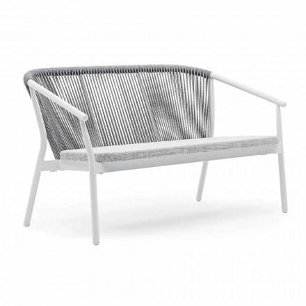Sofá de dois lugares para empilhar sofá em alumínio e tecido - Smart By Varaschin