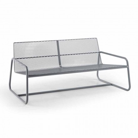 Sofá de metal para o jardim moderno High Quality Made in Italy - Karol