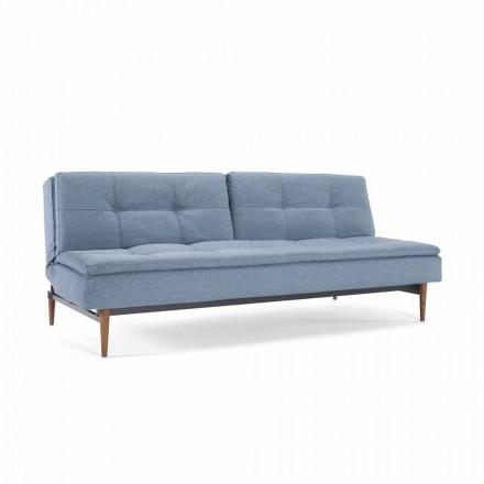 Sofá cama azul ajustável em 3 posições Dublexo Innovation