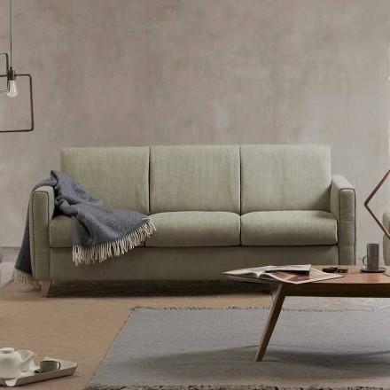 Sofá-cama de design moderno Filippo fabricado em tecido produzido na Itália