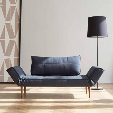 Sofá-cama design moderno Zeal by Innovation em tecido estofado