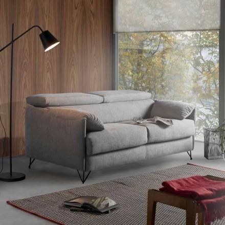 Sofá-cama Design em tecido removível produzido na Itália Vittorio
