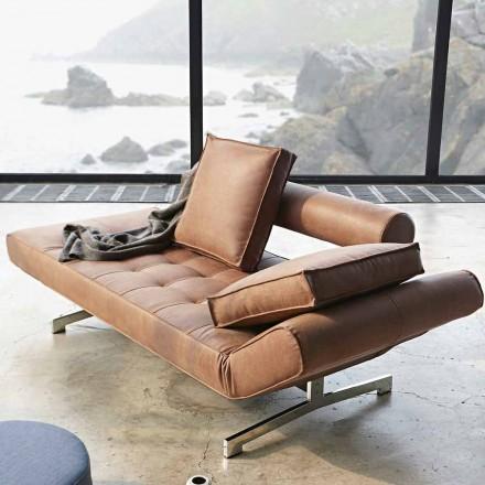Ghia by Innovation moderno sofá-cama estofado com pés cromados
