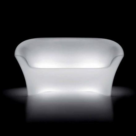 Sofá Exterior Brilhante em Polietileno com Luz LED Made in Italy - Conda