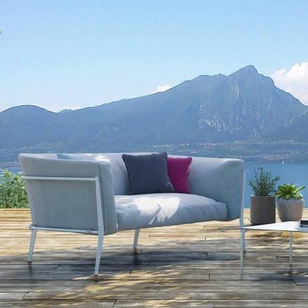 Sofá de exterior ou interior moderno com design removível fabricado em Itália - Carmine