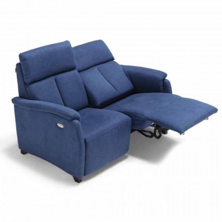 Sofá 2 lugares Gelso, com um assento reclinável, design moderno
