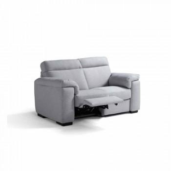 Sofá motorizado de 2 lugares com 1 assento elétrico Lilia, fabricado em Itália