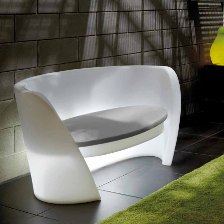 Sofá de design interior em polietileno Slide Rap, produzido na Itália