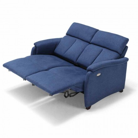 Sofá 2 lugares Gelso, com dois assentos reclináveis, design moderno